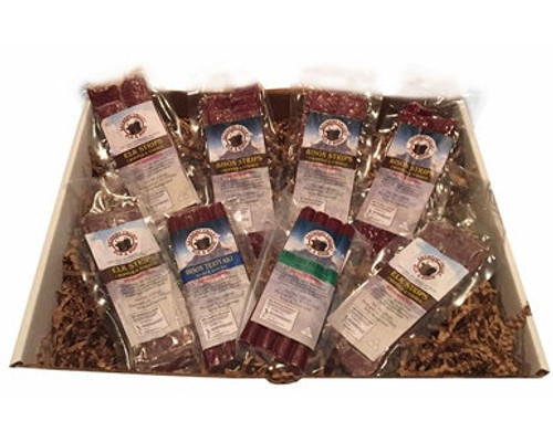 Bison and Elk Jerky and Snack Stick Gift Box