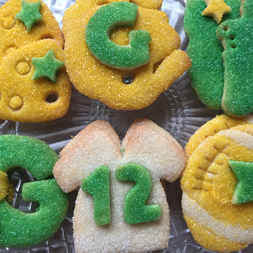 Packer Time Sugar Cookie Gift Box