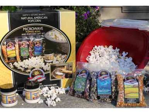 Fireworks Popcorn Microwave Gift Bowl Set