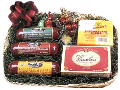 Wisconsin Sausage and Cheese Gift Basket