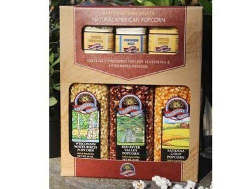 Gourmet Popcorn and Seasoning Gift Set