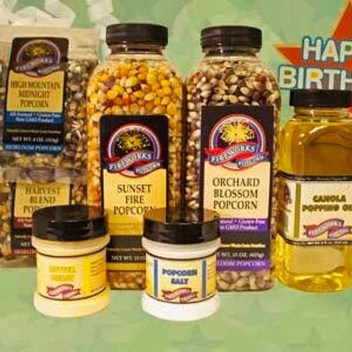Birthday Greetings Popcorn Gift Box
