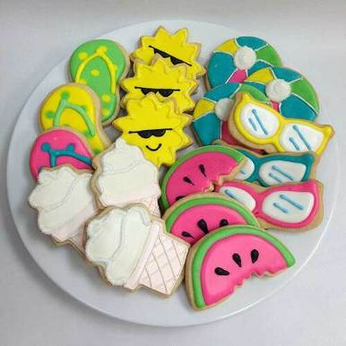 Day at the Beach Hand Decorated Cookies
