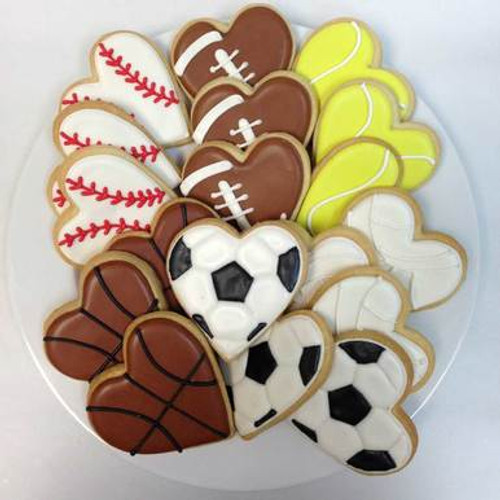 Sporty Heart-Shaped Cookie Gift Set
