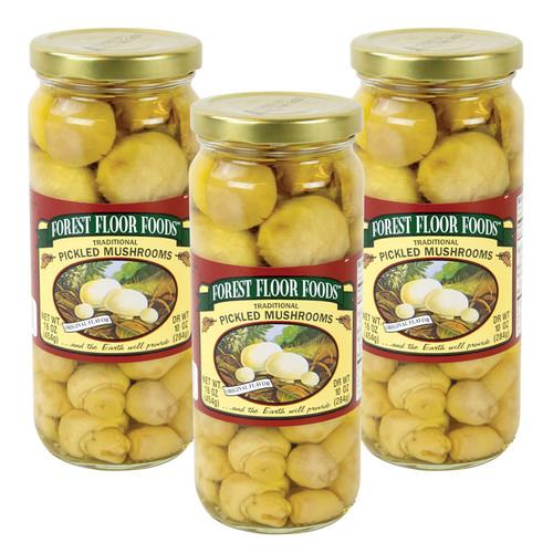 Forest Floor Foods Traditional Pickled Mushrooms - 3 Jars
