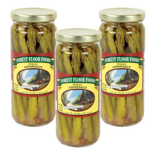 Forest Floor Foods Premium Pickled Asparagus - 3 Jars
