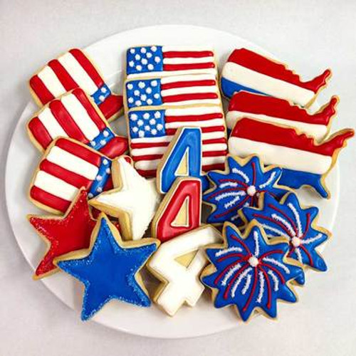 Red White and Blue Sugar Cookie Gift Tin