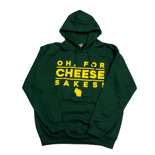 OH, FOR CHEESE SAKES! Sweatshirt with hood and pocket