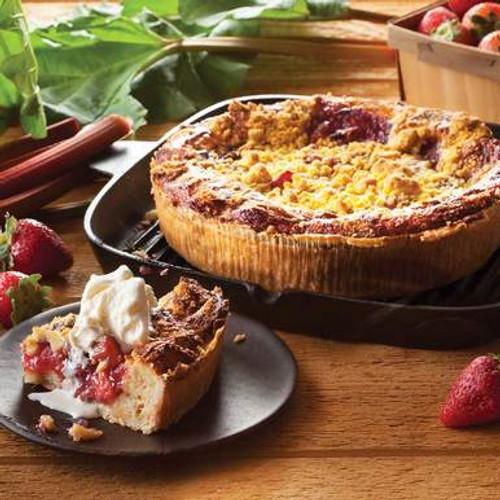 Strawberry Rhubarb Bread Pudding Dessert