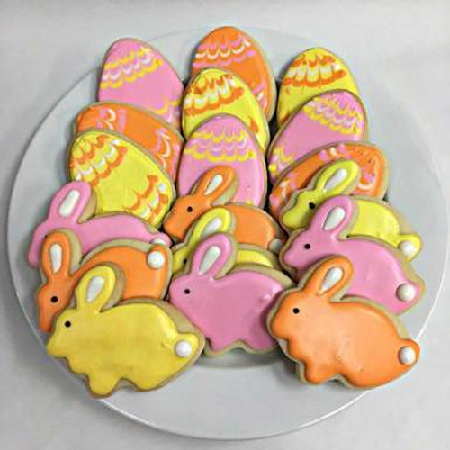 Easter Eggs and Bunnies Homemade Sugar Cookie Gift