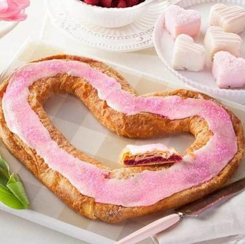 O&H Danish Raspberry Heart Kringle and Petit Four Hearts