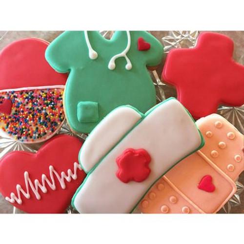 Nurse Appreciation Frosted Sugar Cookies