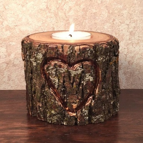 Heart Engraved Candle Holder