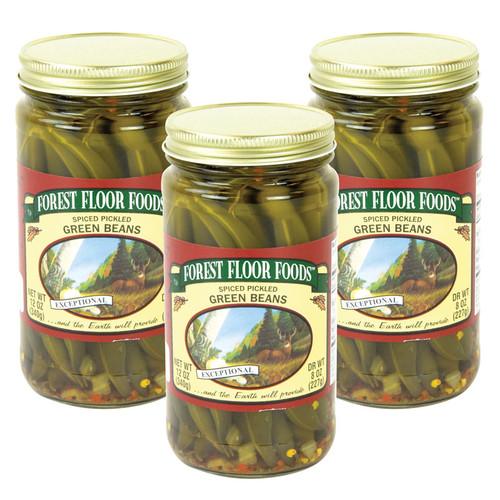 Forest Floor Foods Spiced Pickled Green Beans - 3 jars