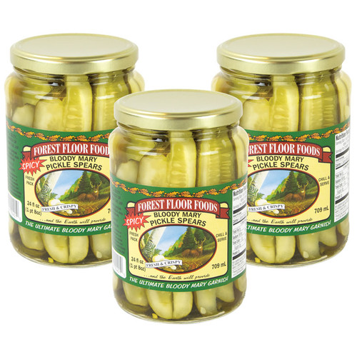Forest Floor Foods Spicy Bloody Mary Pickle Spears - 3 Jars