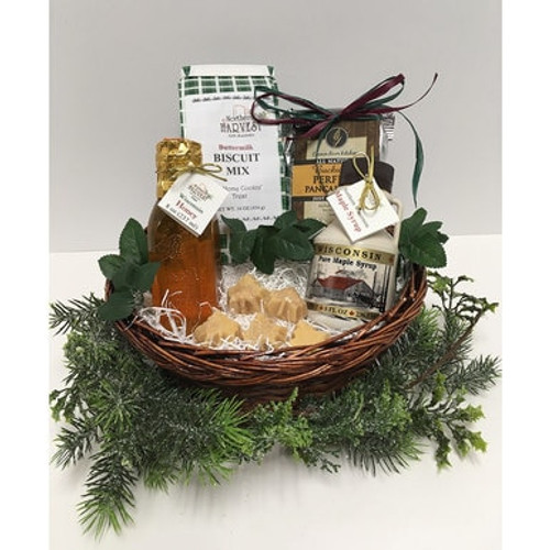 Wisconsin Maple and Honey Gift Basket