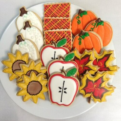 Fall Harvest Sugar Cookie Gift Tin