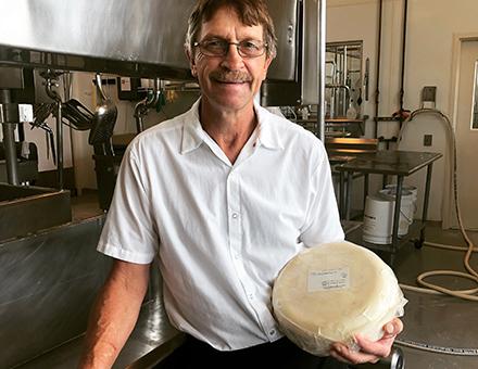 Steve, cheesemaker at Clock Shadow Creamery