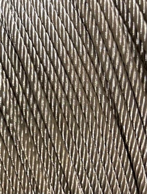 2mm - 8mm Galvanised Wire Rope - Per Metre