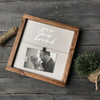 12X12 Frame {Smoke gray wood with white  lettering}