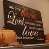 Oh, Give Thanks to the Lord