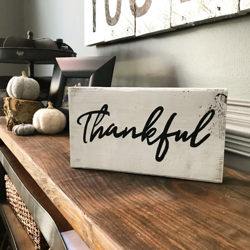 Thankful Tabletop {Word is Customizable}
