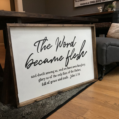 The Word Became Flesh Christmas Mantle Piece