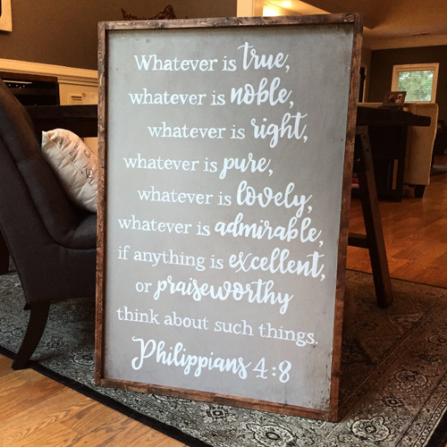 Whatever Is {Philippians 4 medium}