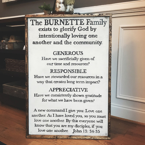 Family Mission Statement {Burnette Design - customizable}