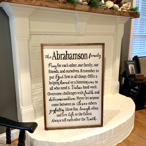 Family Mission Statement {Abrahamson Design - Customizable}