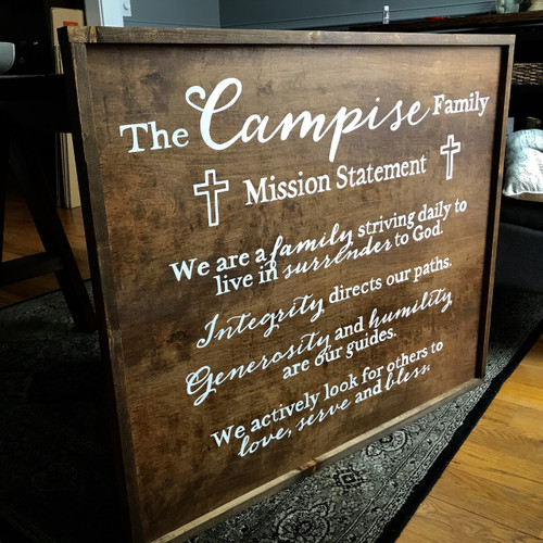 Family Mission Statement {Campise Design - Customizable}