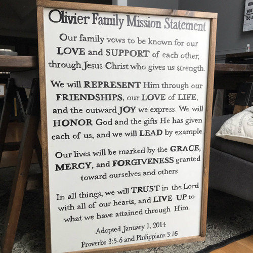 Family Mission Statement {Olivier Design - Customizable}