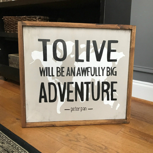 Peter Pan Adventure sign