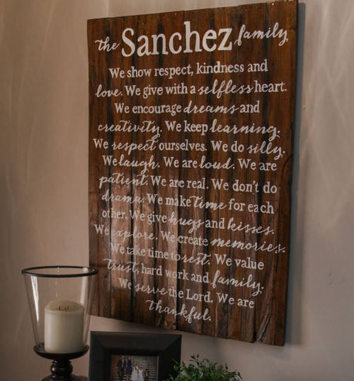 Family Mission Statement {Sanchez Design}