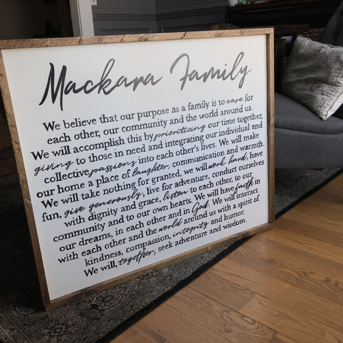 Family Mission Statement {Mackara Design}