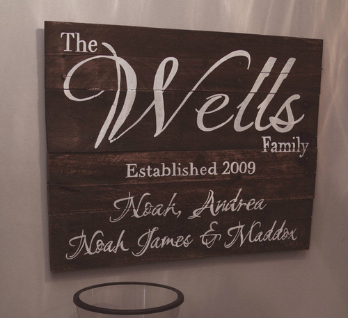 Customized Anniversary and Family Names Piece