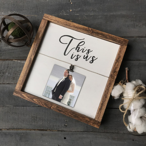 12X12 Frame {Antique White with black lettering}