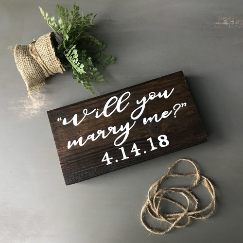 Will You Marry Me? {Engagement Date tabletop}