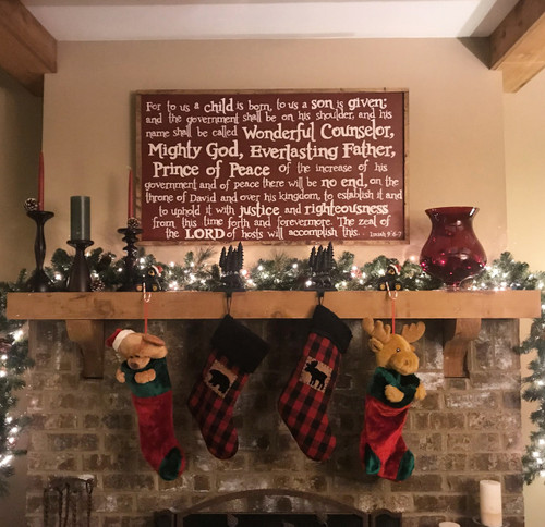 XL Isaiah 9 Mantle Piece {Christmas}
