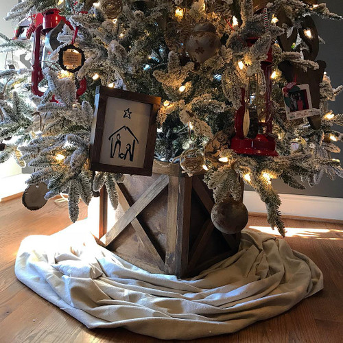 Farmhouse Christmas Tree Box