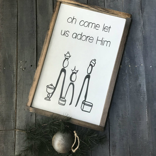 Oh Come Let Us Adore Him {12X20}