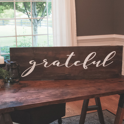 Grateful {Word is Customizable to Gather or Thankful}