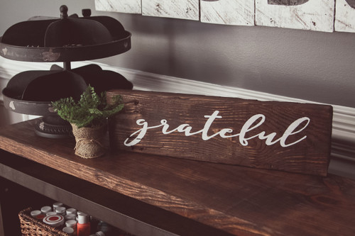 Grateful Long Tabletop {Word is Customizable}