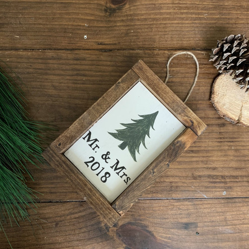 Mr. & Mrs. {1st Year Married} Ornament