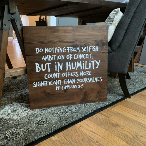 In Humility {Philippians 2:3}