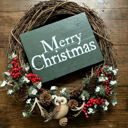 Merry Christmas {over sized wreath sign}