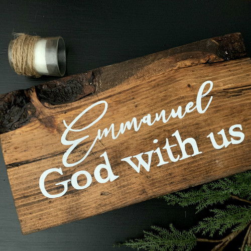 Emmanuel God with Us {Oversized Tabletop}