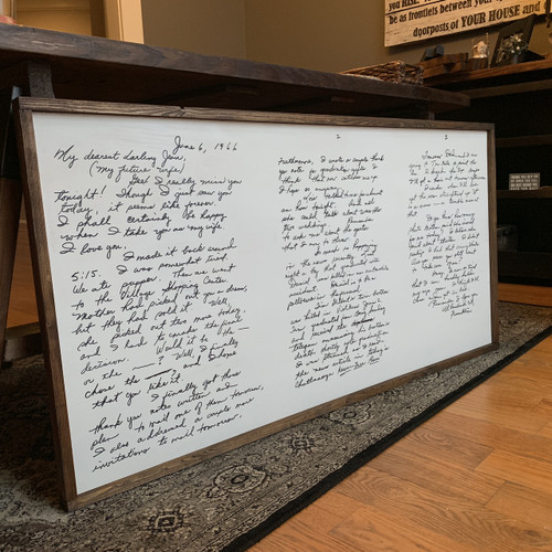 "Heirloom 40""X24"" {2-3 Page Note or Letter}"