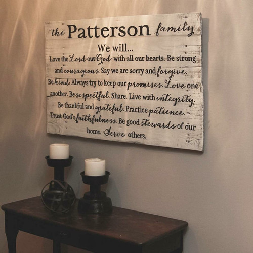 Family Mission Statement {Patterson Design}