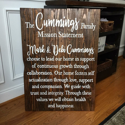Family Mission Statement {Cummings Design}